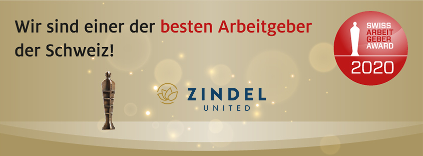 Zindel United top ten Arbeitgeber der Schweiz 2020