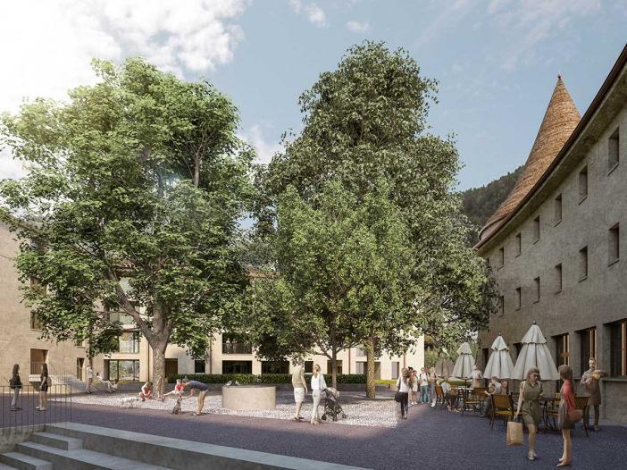 Sennhof Chur, Umbau und Neubau