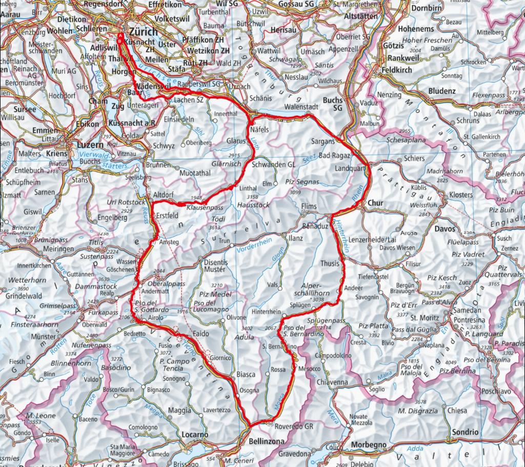 Strecke CHALLENGE Tortour 2021